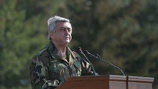 Սերժ Սարգսյանը «աչքը չի թարթի «Իսկանդերի» համազարկի հրաման արձակելու»