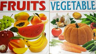 Color Fruits and Vegetables ||Learn Names of Fruits and Vegetables using simple app