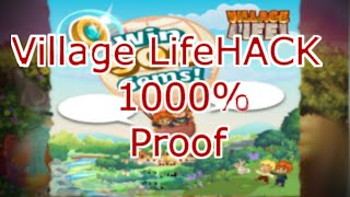 Village Life HACK 1000% Proof - No Joke It Is Real !!!