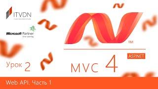 ASP.NET MVC 4. Урок 2. Web API. Часть 1