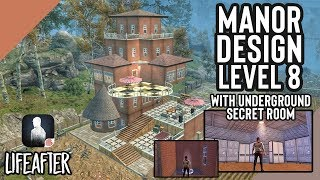 LifeAfter: Manor Level 8 Design w/ Secret Underground Store Room | Anti Raid + Beauty