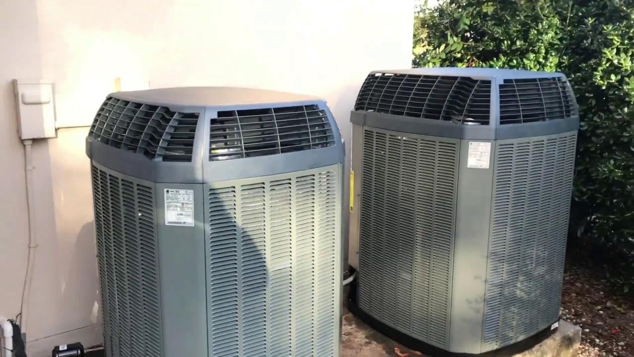 Trane Hydronic Backup 20 S E E R Heat Pump Systems Install Youtube