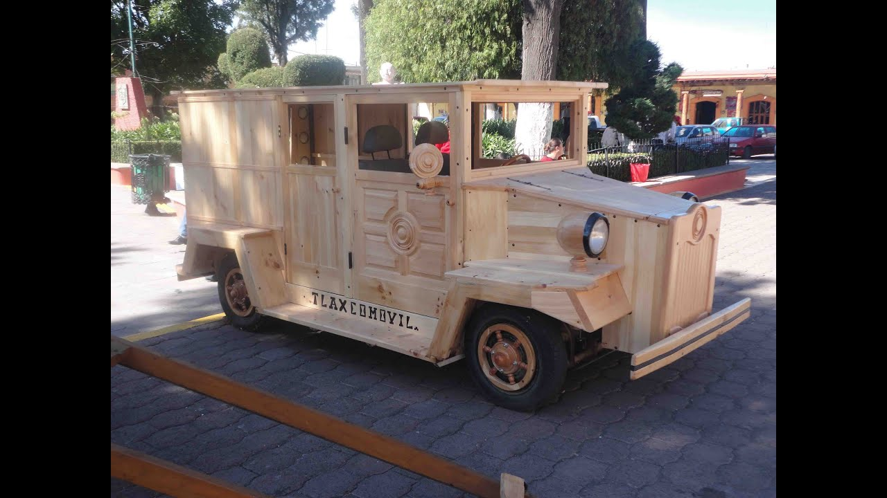Tlaxcomovil carro de madera wood car youtube for Carritos de cocina de madera