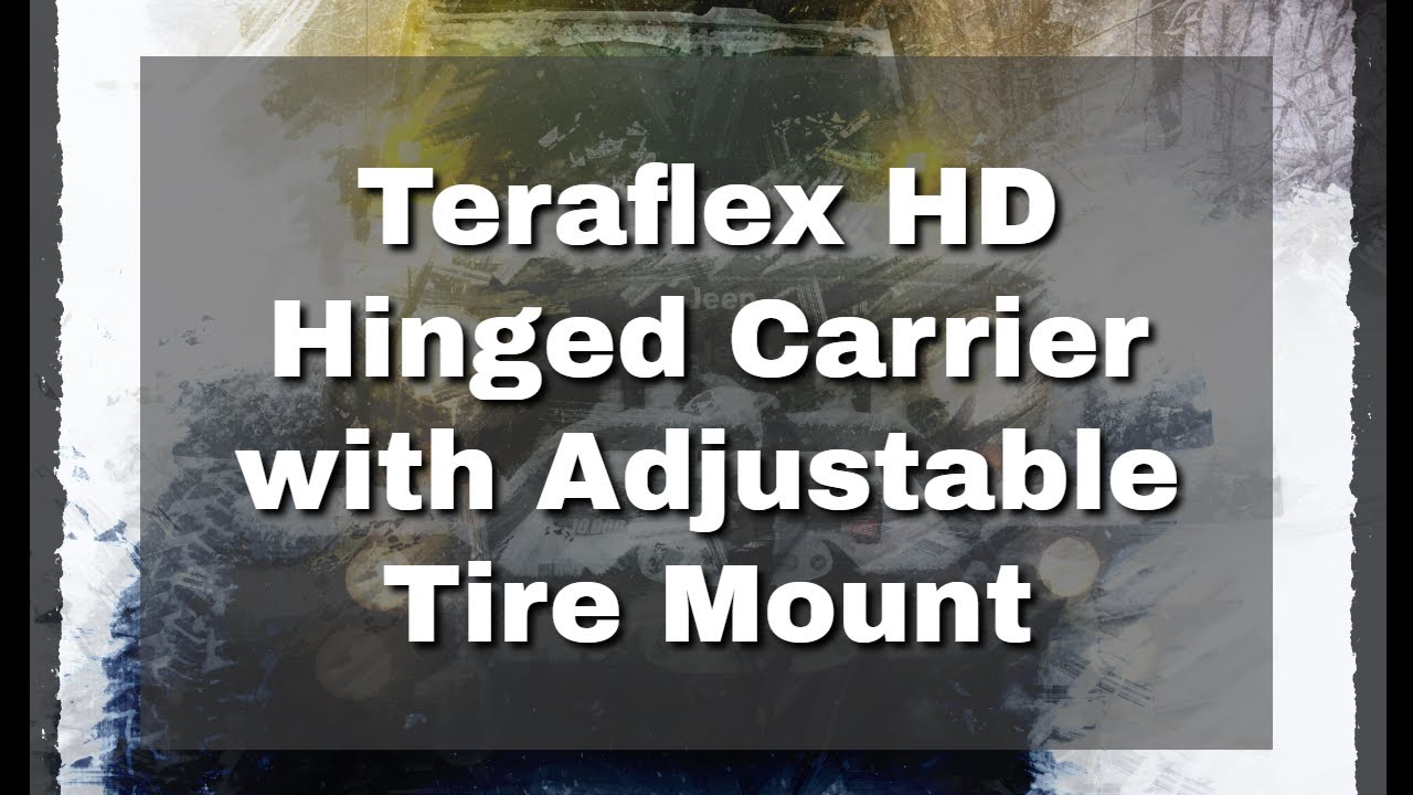 Teraflex Hd Hinged Carrier With Adjustable Tire Mount