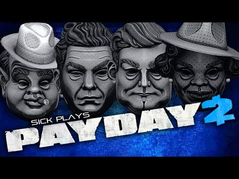 """PAYDAY 2 The Mafia Mask Pack - Al Capone, Bugs, Charles """"Lucky"""" Luciano """"Madame"""" St. Clair"""