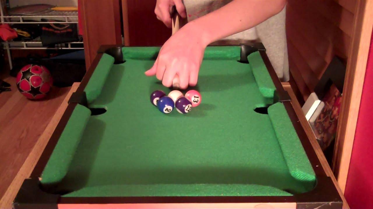 Amazing Mini Pool Shots   YouTube