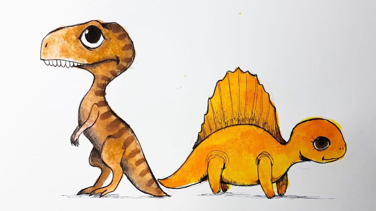Come disegnare Fimone e Nonnasauro da piccoli 🦖👶