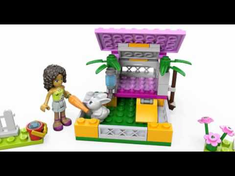 Lego Friends | 3938 | Andrea's Bunny House | Lego 3D Review - YouTube