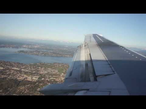 On final, Seattle--Tacoma International Airport, Alaska Airlines, Boeing 737