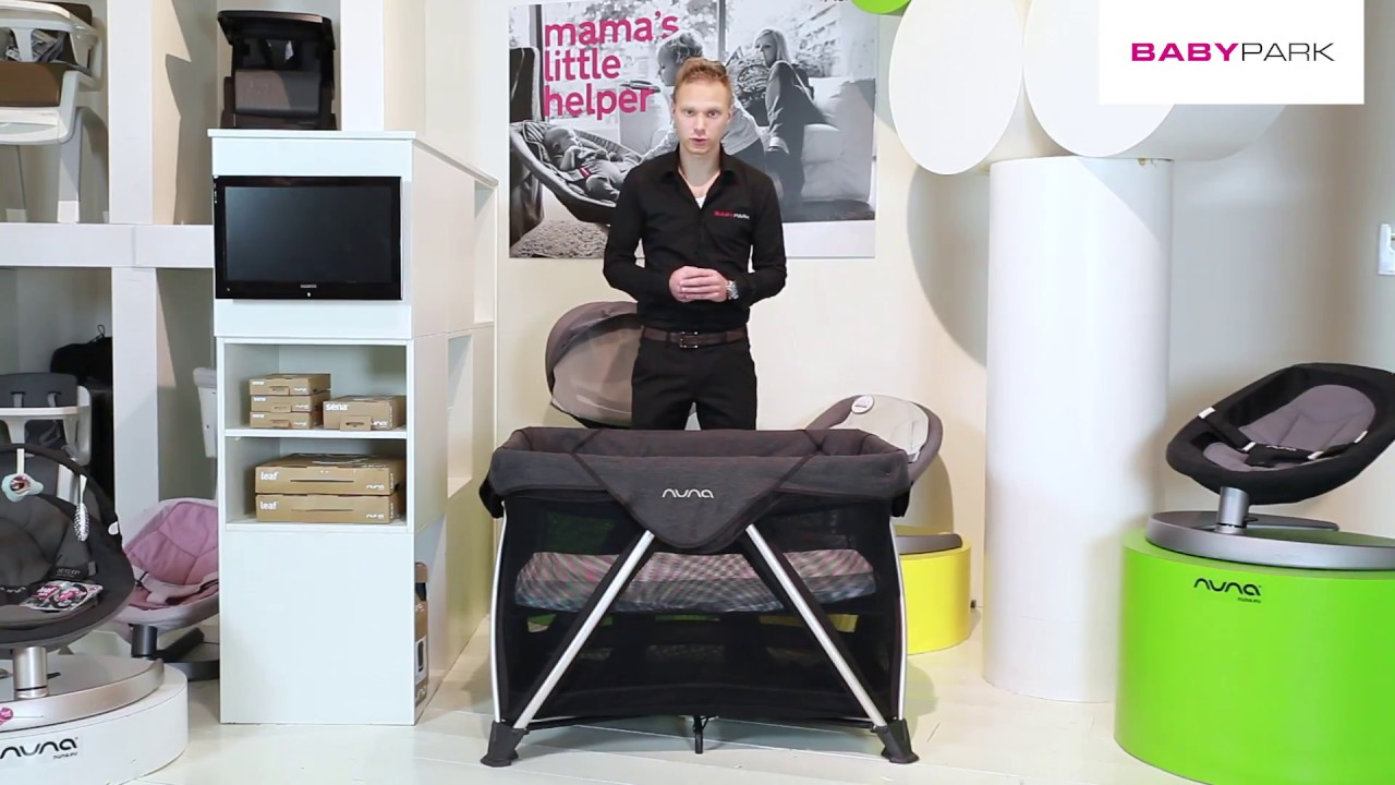 Campingbedje Prenatal Opzetten.Nuna Sena Campingbed Review Youtube