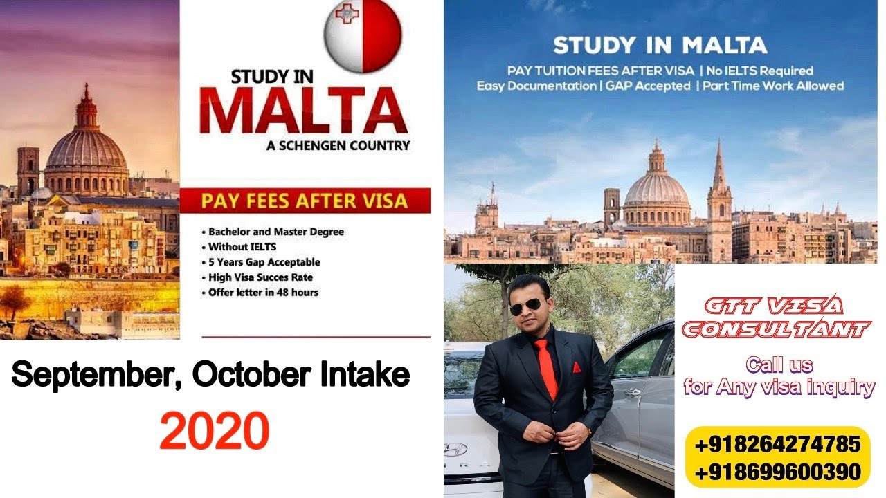 Malta Study visa 2020 apply Now ( HINDI )