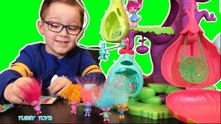 DreamWorks' Trolls Color Change Series 7 Blind Bags & Trolls Podular Playset! review TUBEY TOYS