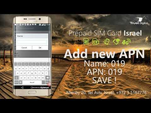 019 Mobile APN Settings - Prepaid Israeli SIM Card