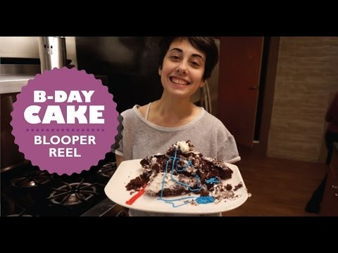 Blindfolded Cake Challenge: BLOOPERS