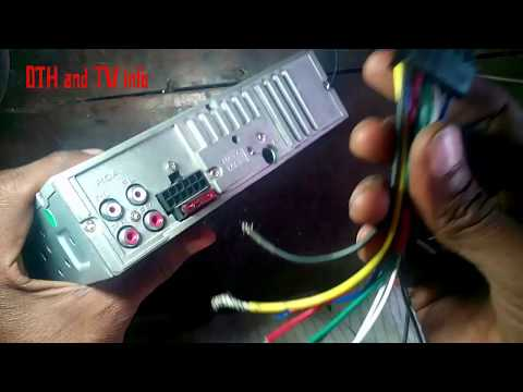 CAR -USB/MP3/FM/PAYER WIRING DIAGRAM BACK-MAIN UNIT  Part 1 (Hindi) (हिन्दी)  कार टेप आउटपुट कनेशन व