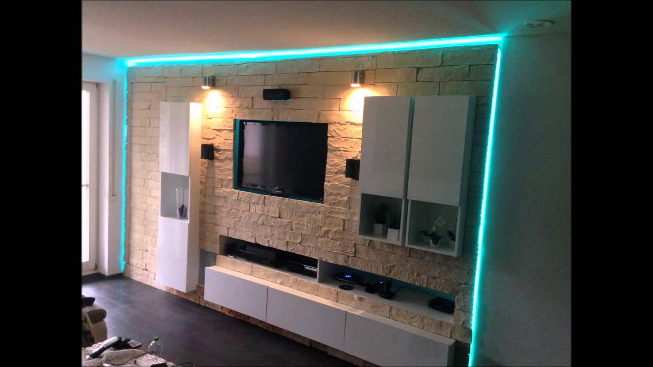 Tv wand selber bauen rigips  Geile Hifi Tv Anlagen Wohnwände - YouTube