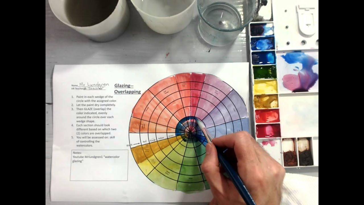 Color Wheel Watercolor Glazing Part 2