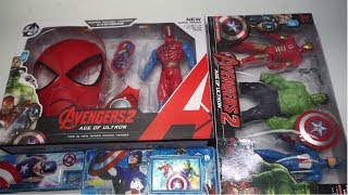 Marvel Avengers Spider Man,Avengers 2 Age of Ultron Toy,Marvel Captain America Pencil Box And Other