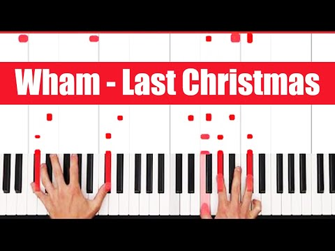 Last Christmas Wham Piano Tutorial - CHORDS