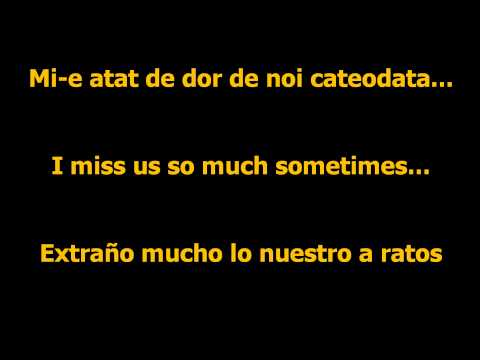 DJ Project ft. Giulia - Mi-e dor de noi lyrics Romanian-English-Spanish