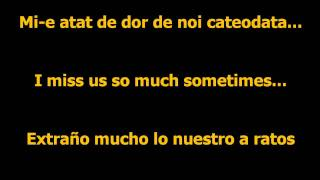 DJ Project ft. Giulia - Mi-e dor de noi lyrics Romanian-English-Spanish