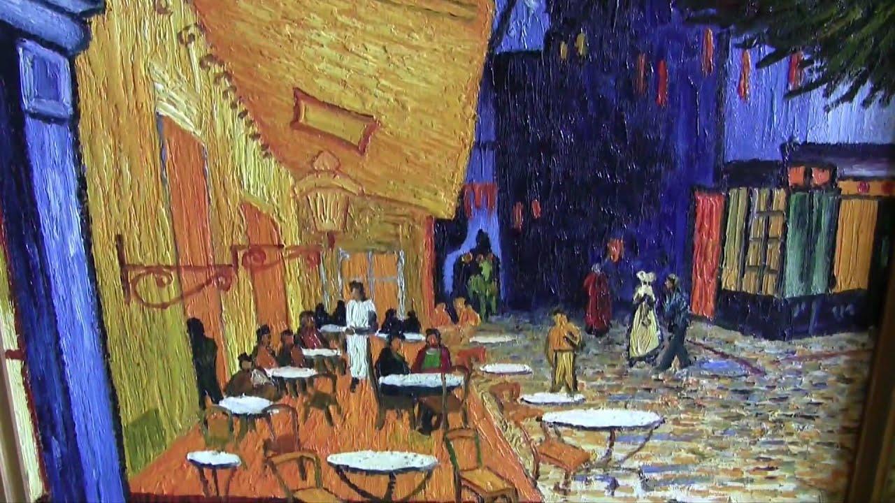 Vincent van Gogh  Terrazza del caff la sera Place du Forum Arles  copia dautore  HD  YouTube