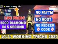 How To Get Free Diamond In Garena Free Fire    No Paytm Get Free Diamond New Secret Trick 2020