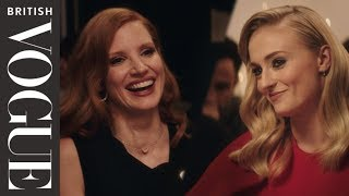 Sophie Turner And Jessica Chastain Join Vogue For Dinner | British Vogue