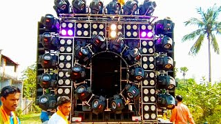 DJ GREEN MUSIC NEW SETUP !! WITH NEW DESIGN 40 SARPHY TOP AND BACK SETUP !! HEAVY BASS SOUND CHECK
