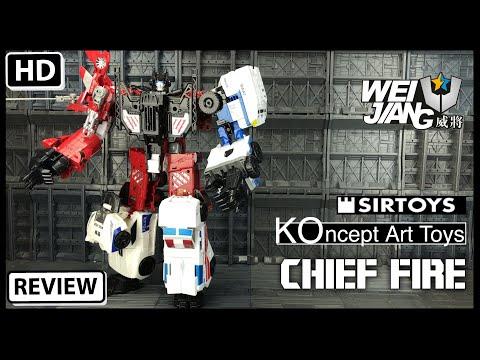 Wei Jiang KOncept Art Toys Chief Fire Transformers Combiner Wars Fire Chief Guard City