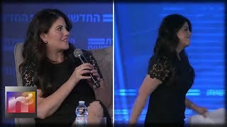 Monica Lewinsky Storms Off Stage After Asked Shocking Personal Question About Bill Clinton