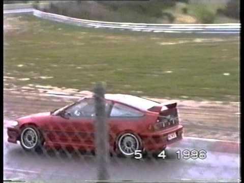 Nordschleife Touristenfahrten Too Fast Drivers, Golf 1 And Mercedes SLK Spin 05.04.1998