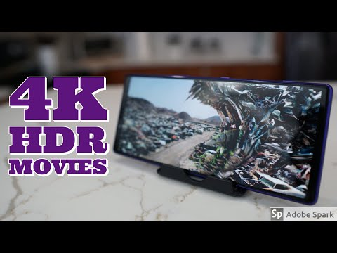 Sony Xperia 1 - Watching Movies In 4K HDR 21:9 - WOW