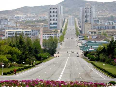 Kaesong, North korea, industrial region,  Manwoldae palace, ancient capital of Goryeo, border,