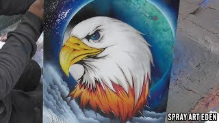 American Eagle SPRAY PAINT ART by Eden スプレーペイントアート うめちゃん