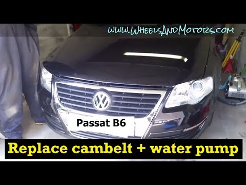 How to replace CAMBELT (timing belt) and water pump VW Passat B6 2.0tdi PD engine
