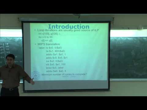 Mod-01 Lec-20 Dynamic scheduling, speculative execution