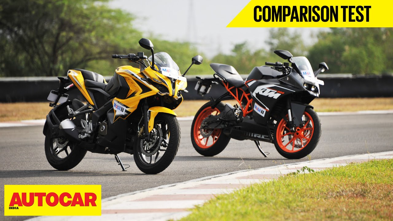 Bajaj pulsar rs200 vs ktm rc200 vs honda cbr250r comparison youtube - Bajaj Pulsar Rs 200 Vs Ktm Rc 200 Comparison Test Autocar India Youtube