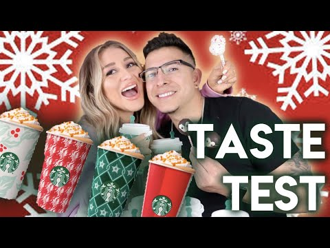 TRYING STARBUCKS HOLIDAY DRINKS AND TREATS!