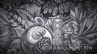 Video Drawing with a Ball Point Pen - Abstract Lines. Speed Drawing download MP3, 3GP, MP4, WEBM, AVI, FLV Agustus 2018