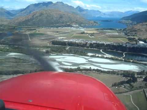 Cockpit view: Landing at Queenstown Airport(ZQN/NZQN) New Zealand