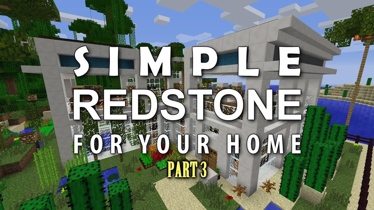 Minecraft Redstone For Your Home #3 Secret Door 3x3 Piston