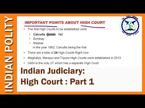 Indian Judiciary : High Court   Indian Polity   SSC CGL, UPSC   by TVA
