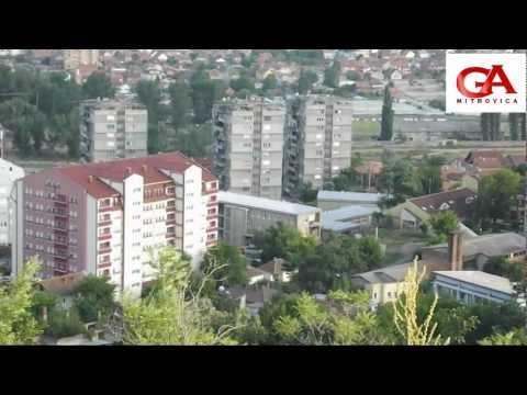 Mitrovica 2012 - Pamje të Qytetit nga Përmendorja, Veriu me Jugun