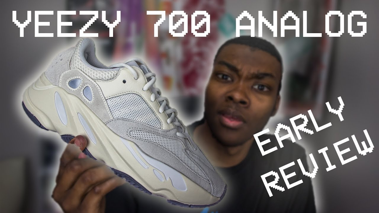 41adf6fd3b939 YEEZY 700 ANALOG EARLY IN HAND REVIEW + UV LIGHT TEST - YouTube