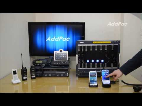 Smart PTT Application using Radio PTT MIC & External Speaker demo  | AddPac