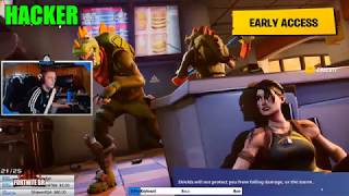 Fortnite - A Pro, Rookie and Hacker battle