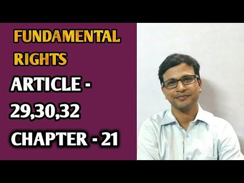 Fundamental right ARTICLE 29,30&32