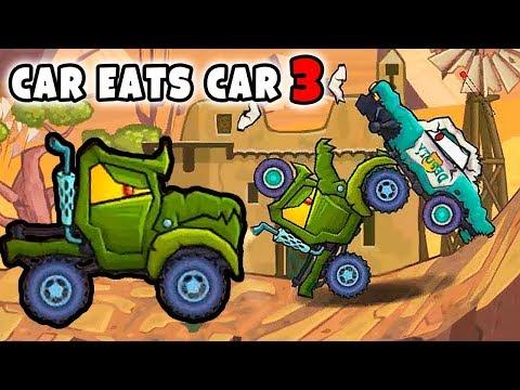 Зеленая тачка ГАТОР ЧТО ЭТО ЗА МАШИНА? Машина ест машину 3 прохождение 7 уровня ВЕСЁЛЫЕ ИГРЫ!