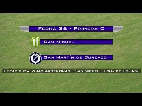 Fecha 36: San Miguel vs San Martín de Burzaco - EN VIVO